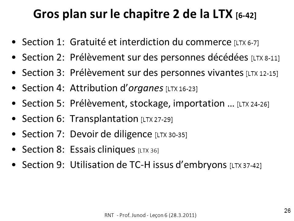 Gros plan sur le chapitre 2 de la LTX [6-42]